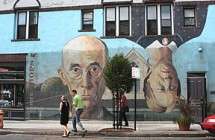 SUSAN R. POLLACK PHOTO.  Beautiful murals define the Short North arts district of Columbus, Ohio.
